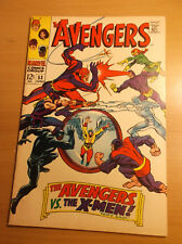 MARVEL: THE AVENGERS #53, TEAM VS X-MEN, SCARCE, NICE SHAPE, 1968, VF- (7.5)!!!
