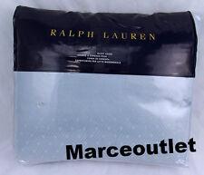 Ralph Lauren Home Bedford Jacquard KING Duvet Cover Sanibel Blue