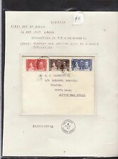NIGERIA : CORONATION KING GEORGE VI COVER : FIRST DAY OF ISSUE     F