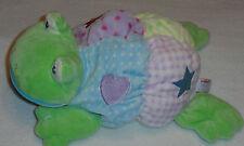 Aurora Baby Plush Turtle Frog Crinkle Rattle Heart Flower Polka Dot Stuffed Toy