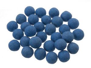 50 Perlen Bälle Von Filztasche Filz Natürlich Ø= 2.1 CM Nepal Blau BO8