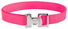 4 - Alligator Clip Nylon Tie Down Straps - Hot Pink - 4 Feet