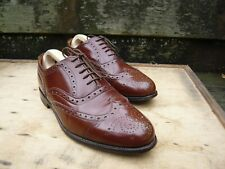ALFRED SARGENT BROGUES MEN'S SHOES – BROWN / TAN – UK 9 – EPPING -EXCELLENT COND