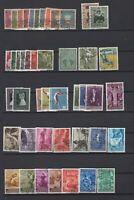 LIECHTENSTEIN 1951-1960 >50 stamps, CV $75, Used