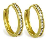 ECHT GOLD *** Zirkonia Creolen 13 mm