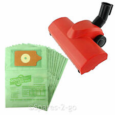Airo Turbo Brush Floor Tool + 10 Paper Dust Bags For George Vacuum Hoover