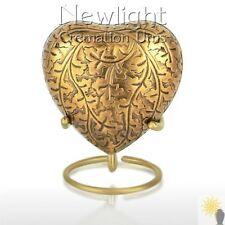 Autumn Gold (3inch Heart), Keepsake Urns, Heart Keepsakes, Mini Urns