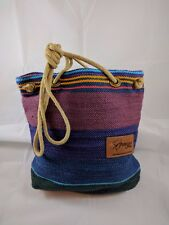 "Authentic Medium Colorful Handmade South African ""African Loom"" Bag"