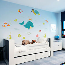 Under the sea wall sticker for kids bedroom/kindergarten home decor wall poster