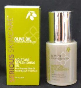 SERIOUS SKINCARE OLIVE OIL MOISTURE REPLENISHING OIL (Full Size/1oz/NWB)
