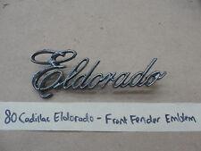 OEM 1980 Cadillac Eldorado FRONT FENDER EMBLEM SCRIPT BADGING #1614599