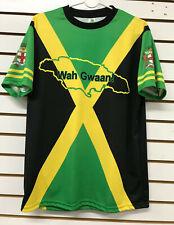 JAMAICA FLAG MEN T-SHIRT BLACK GREEN & GOLD