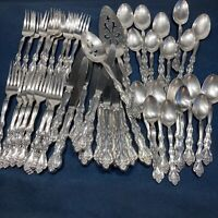 49 P Vintage 70s Interlude Silverplate Flatware Set Craft Casual Use Scratches