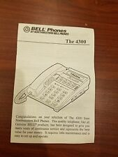 Northwestern Bell 4300 Telephone Manual