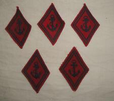 Insignes de la Marine tissu brodé Lot de 5 tbe