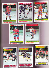 1977 / 78 Topps HOCKEY LOT of 8 Record Breakers and PLAYOFFS Cards LAFLEUR
