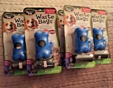 180 plastic bags for Dog Pet Waste 6 Holders with Clip Dog Cat Pick Up Bow Wow