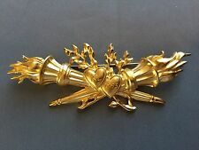 Vintage 1993 karl lagerfeld Olympic heart torch pin/brooch