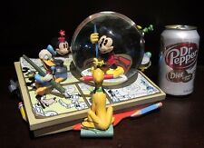 RARE Disney Mickey Mouse Fab 5 Comic Strip Inc And Paint Snowglobe Music Box