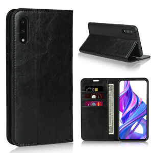 Luxury Genuine Leather Wallet Flip Case Cover For Huawei Honor 9 Lite 9X Pro