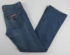 Hudson jeans Boot cut Triangle flap pocket USA Made Blue Womens Size 31
