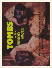 TOMBS OF THE BLIND DEAD Movie POSTER 27x35 Caesar Burner Lone Fleming Helen Harp