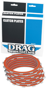 Drag Specialties Organic Clutch Plate Kit 84-90 Harley Davidson Sportster XLH