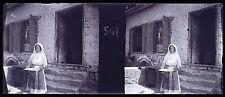 Grèce Greece Corinthe Corinthos Plaque de verre stéréo Négative 1911