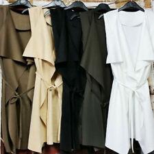 New Womens Sleeveless Cape Ladies Jacket Waterfall Vest Coat Fashion Overcoat