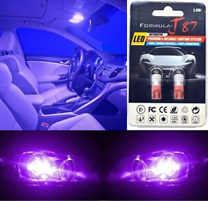 LED 5050 Light Purple 12000K 194 Two Bulb License Plate  Replace Upgrade SMD JDM