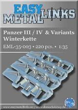 Escala 1:35 Panzer III/IV & variantes wintertracks (Metal Conjunto De Actualización De Pista)