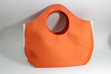 Estee Lauder Large Heavy Synthetic Canvas Bag Tote Shopper Orange & White