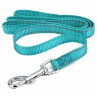 Reflective Lining Pet Dog Lead Leash with Clip (1.5cm, blue) T2W9