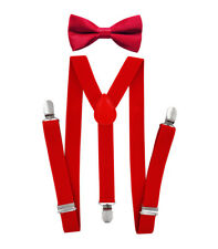 Axy Boys Suspenders - Y Form 1in Wide With Fliege-3 Clips Extra Strong-Unisex