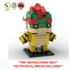Bowser Custom Lego Brickheadz - MOC - PDF INSTRUCTIONS ONLY - Super Mario Bros