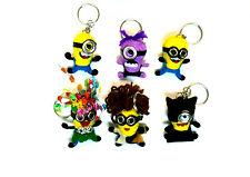 Super Minion wool dolls, Cartoon Keyring Bag Charm WHOLESALE Party pack 6+ 1free