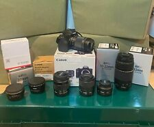Canon EOS M50 24.1MP Mirrorless Digital Camera with 5 lenses $2,4XX value!