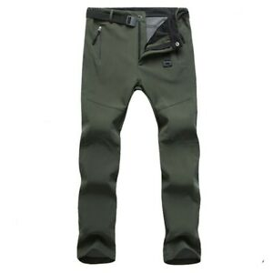 Men Hiking Pants Hiking Long Pants Men Outdoor Soft Thick Trousers Practical