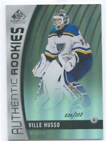 17/18 SP GAME-USED SILVER RAINBOW ROOKIE RC #104 VILLE HUSSO 036/222 BLUES 51004