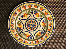HENRIOT QUIMPER VINTAGE FAIENCE GEOMETRIC PATTERNED PLATE early 20th C