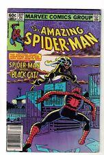 Marvel comics 227 Spiderman black cat app 1982 FN- 5.5 black cat