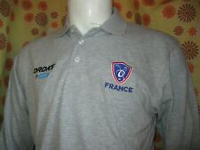 Ancien POLO MAILLOT FFHG FEDERATION FRANCAISE HOCKEY SUR GLACE FRANCE OROKS TM