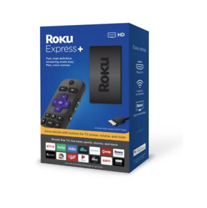 Roku Express+ HD Streaming Media Player with Voice Command & Volume Buttons