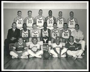 Jerry West 1960 Rookie Los Angeles Lakers Team Photo NBA Type 1 Original Photo