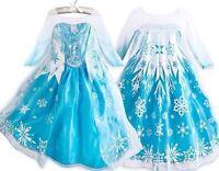 Robe Déguisement Costume La Reine des Neiges Frozen Elsa Anna Enfant Fille_NEUF-