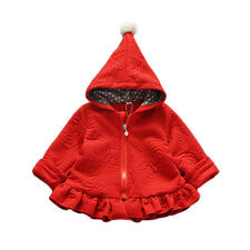 NUEVO niña manga larga Abrigo Con Capucha en Rojo Rosa Oscuro 18-24 Meses 2 3 4