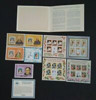 PRINCESS DIANA'S 21st BIRTHDAY  HISTORIC STAMPS WITH COA