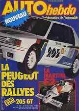 AUTO HEBDO n°357 24/02/1983 MARTINI F2 205 GT
