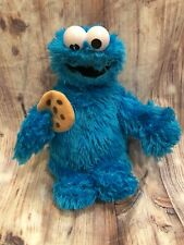 """Fisher-Price Sesame Street 15"""" Cookie Monster W Cookie Plush Stuffy 2008 Toy"""