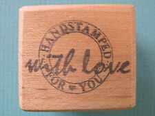 Hand Stamped With Love For You - Phrase RAINDROPS ON ROSES Rubber Stamp